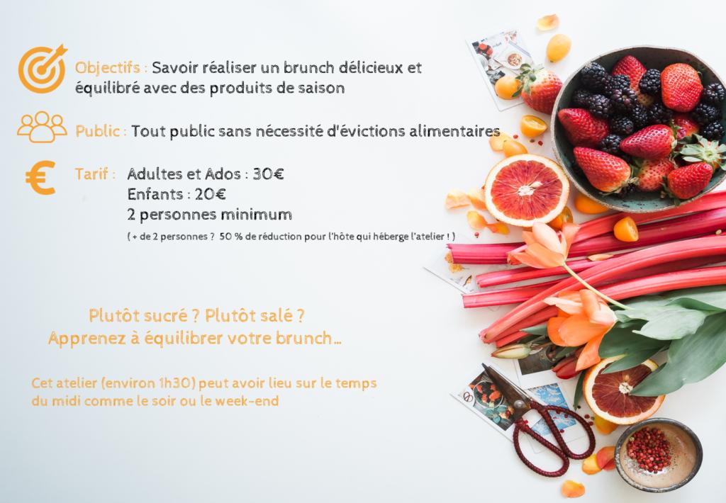 Ateliers culinaires diététiques - Brunch équilibré